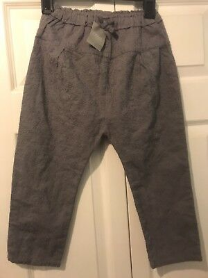 Girls Grey Broderie Anglaise Trousers Age 5-6 NWT Next