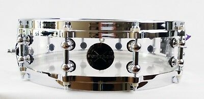 Clear Acrylic Acoustic Die Cast Hoops Piccolo Snare Drum 14x4