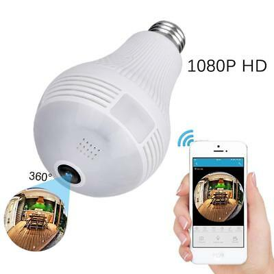 Secret Spy Camera LIGHT BULB Surveillance Gadget With Audio Sound WIFI Home