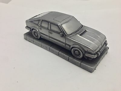 Rover SD1 1.43 Scale Pewter Effect Model Car Handmade In Sheffield