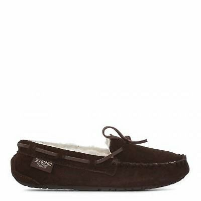 fdaab1432b7f92 Bnib Fenland Sheepskin Ladies Brown Moccasin Hand Stitched Slippers Size Uk  5 6