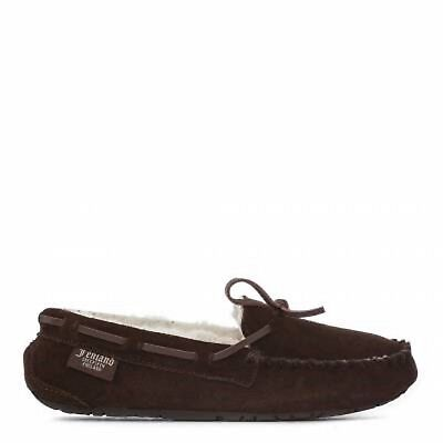 2b77e6b93d0 Bnib Fenland Sheepskin Ladies Brown Moccasin Hand Stitched Slippers Size Uk  5 6