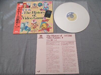 > Namco The History Of Video Games 2 Laser Disc Ld Rare Japan Import With Obi! <