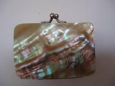 Vintage French Mother of Pearl Coin Purse