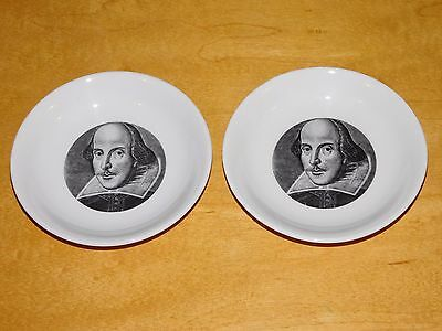 2 Vint Holkham Lidor WH Smith Shakespeare Exhibition Dish/Plates 4 1/4in