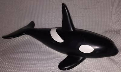 """Ceramic Orca Killer Whale Figurine Collectible 14"""" long"""