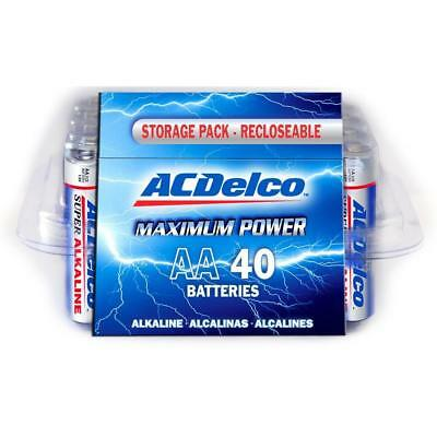 ACDelco Super Alkaline AA Battery Recloseable Maximum Power Household 40 Pack