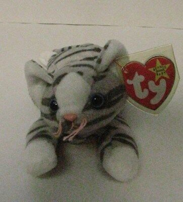 Ty Beanie Babies Prance The Gray Cat 1997