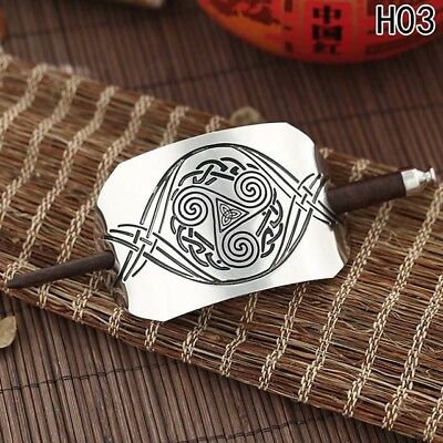 Silver-Plated Celtic Knot Hair Pin or Knitted/crochet Shawl Closure
