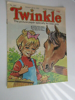 1983 Twinkle Comic, Puzzles done, Twinkle cut-out Doll & Clothes intact No 822