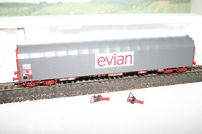 Ho Voiture Wagon  Roco Long Bache Gris Transport Evian Sncf