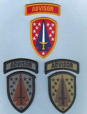 NEW ISSUE SSI:  1st SECURITY ASSISTANCE BRIGADE w/ TABs SET - 3 DIFF ... MINT