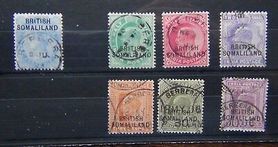 Somaliland 1903 values to 8a Fine Used