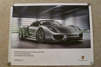 2010 Porsche 918 Spyder Hybrid Concept Poster German BEYOND RARE Out of Print!!
