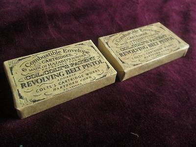 Two Reproduction Dummy Colt Paper Cartridge Packs