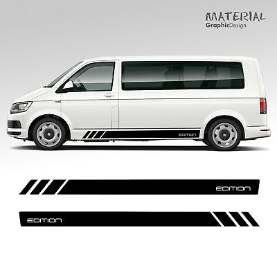Volkswagen VW EDITION Transporter Side Stripe Decals T4 T5 T6  Vehicle Graphic