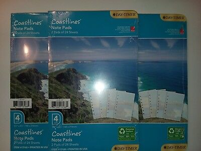 Coastlines Note Pads Planner Note Pages Size 4 Fits 3 and 7 Ring Binders Scenic