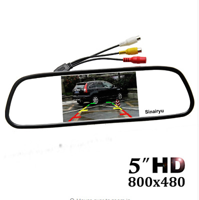 "5"" Digital Color Tft Car Parking Rear View Mirror Reverse Parking System Device"