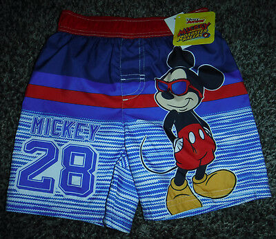 NWT Toddler Boys Mickey Mouse Swim Trunks Size 4T