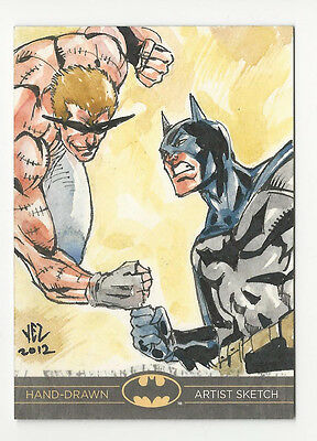 Batman: The Legend 2013 Cryptozoic DC Sketch Card by Jezreel Rojales 1/1