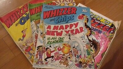 4 Whizzer and Chips Comics.  Ideal for collectors, re-sellers or dealers.