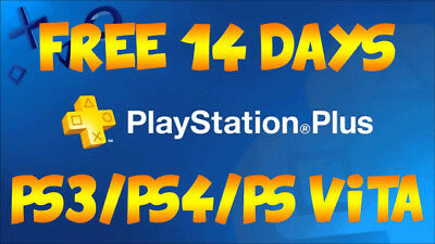 Ps Plus 14 Days - Ps4 - Ps3 - Ps Vita Play Online Anytime