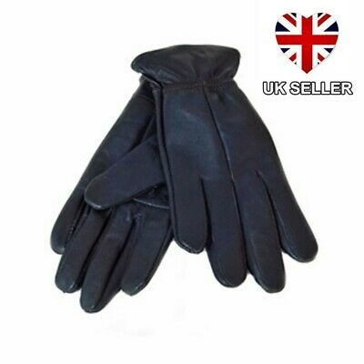 New Ladies Womens Black Leather Gloves Small Driving Uk Seller