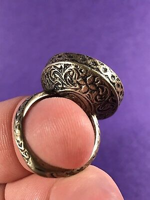 Stunning - Circa 16Th Century - Post Medieval Solid Silver Ring - Very Wearable.