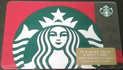 2018 Starbucks Siren red background Gift Card Collectible Mint # 6157 Christmas