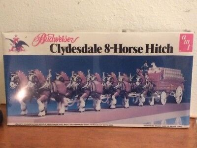 Budwieser Clydesdale  Wagon Model Kit #7722