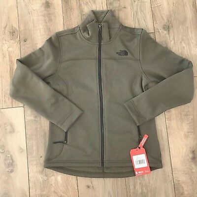 f2b066265367 Women s The North Face Timber Fleece Jacket Taupe Tan Green Full Zip NWT  Small