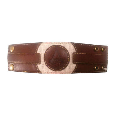 ASSASSIN'S CREED Origins Embossed Crest Wristband One Size Brown/Tan WB1001
