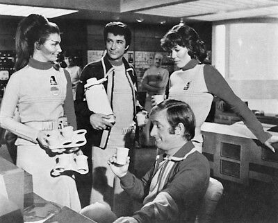 1976's SPACE: 1999/JOURNEY TO WHERE Moonbase beer party b/w 8x10 scene