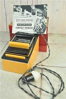 VINTAGE PATERSON Contact Printer BOXED With Manual