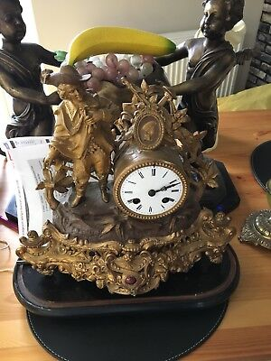 Victorian Ornate Mantle Clock