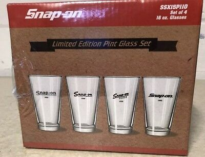 SNAP ON TOOLS LIMITED EDITION 6oz GLASS SET ex display