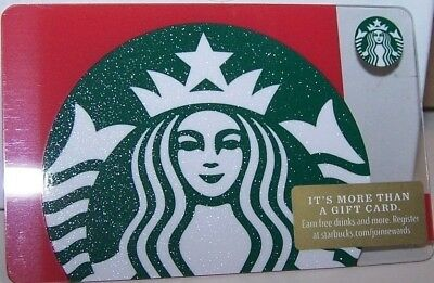 New Starbucks 2018 Christmas Holiday Gift Card Siren Green Glitter