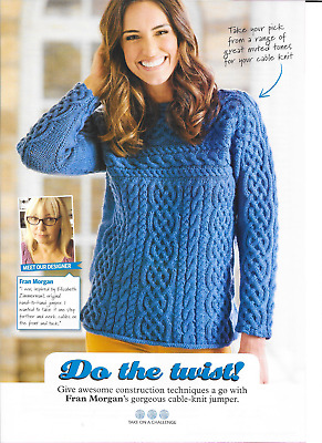 53203b0b4 WENDY 5723 KNITTING Pattern Ladies Cabled Sweater and Cable Hat in ...