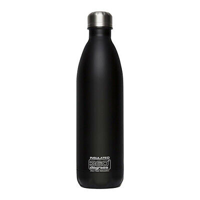 750ML BLACK 360 Degrees SS Insulated Soda Bottle