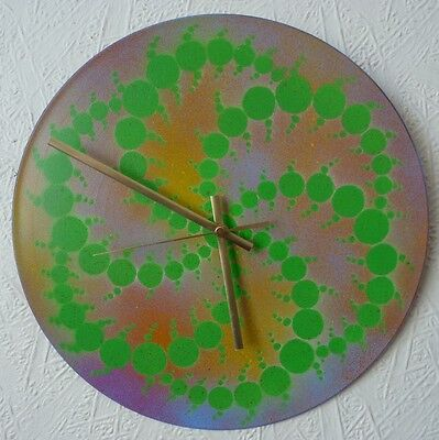 Hippy record Wall Clocks. psychedelic..  HAWKWIND. Trippy. GONG. UV. Tribal