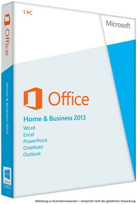Microsoft Office 2013 Home and Business (Outlook, Word, Excel, usw.) Vollversion