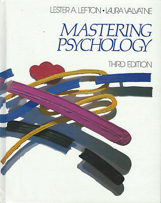 Mastering Psychology 3rd Third Edition by Lester A Lefton (1988, Hardcover Book)