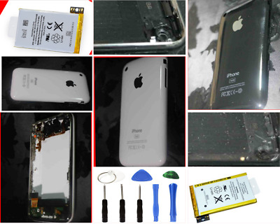 Apple iPhone 3G 3GS Housing Back cover With Metal Frame Parts Batteries UK Stock