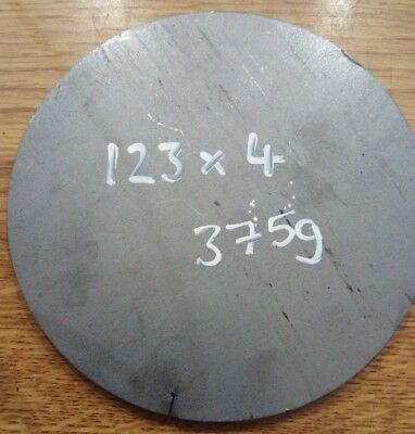 123mm x 4mm Mild Steel Circle With 40mm Centre Hole