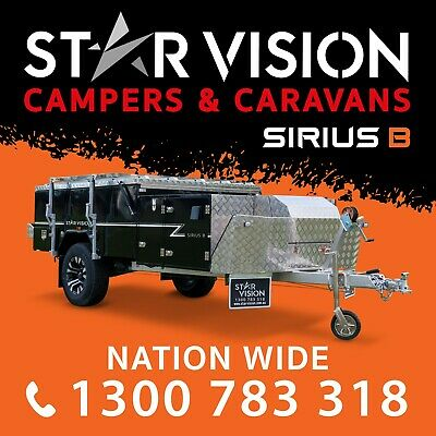 STAR VISION SIRIUS B Hard Floor Camper Trailer Off Road Caravan Forward Fold