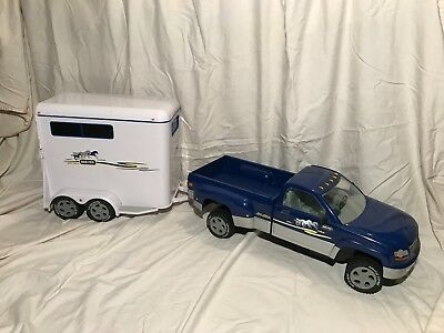 Breyer Traditional Truck and Trailer Blue Truck White Trailer