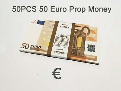 50 Euro Souvenir prop money, novelty, fake euros, play money, full prints. 50PCS