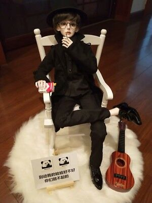 Miniature LED Guitar With Stand Props Accessories For 1//3 BJD SD Uncle S96