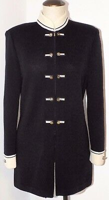 1614  ST JOHN COLLECTION by Marie Gray Black Santana Tunic Jacket Sz. 6