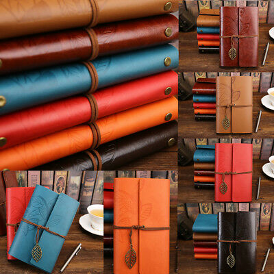 Vintage Travelers Notebook Diary Notepad PU Leather Spiral Literature Note Book